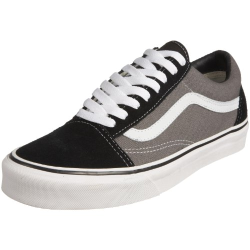 Vans -Adult Old Skool, Baskets mode mixte adulte - noir / étain, 35 EU (2.5 UK)