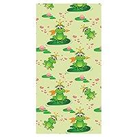 LimeWorks Children Bath Towel, 70x140 cm, Frog Princess