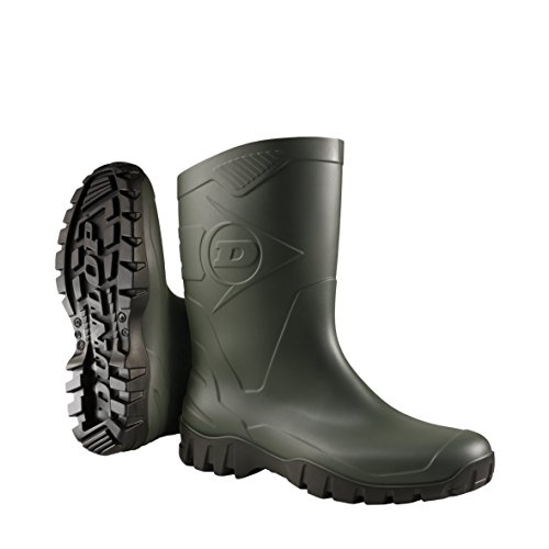 Dunlop wide-calf half-height Wellies.