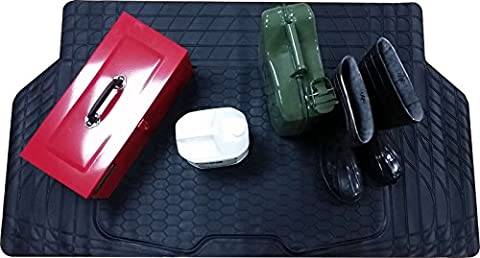 XtremeAuto® Waterproof Rubber Boot Mat Cut To Fit Heavy Duty - Includes XtremeAuto Sticker XA108