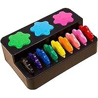 Multicolor Non-toxic Food Grade Wax Innovative Painting Crayons Snowflake Shape Drawing Crayons Art Supplies
