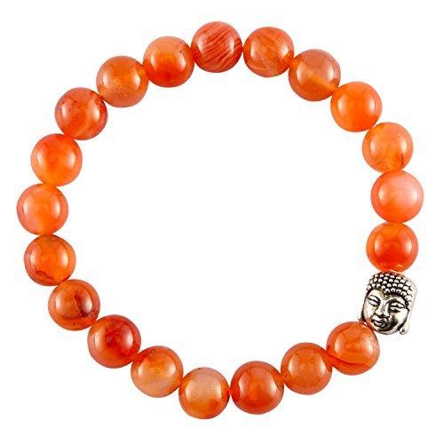 Aatm Gemstone Carnelian Buddha Charm Bracelet...