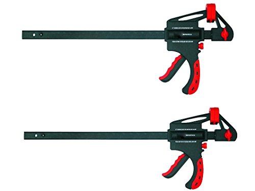 Proteco-Werkzeug® Set 2 Stück Schnellspannzwingen 600 mm x 63 mm Einspanntiefe Einhandzwingen Spreizzwingen Spannzwingen Schraubzwingen