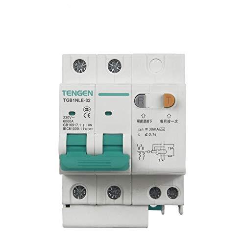 OIASD Interruptor de Aire Interruptor de protección contra Fugas 2P C25A 30mA...