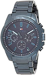 Tommy Hilfiger Men'S Navy Dial Ionic Plated Blue Steel Watch - 179