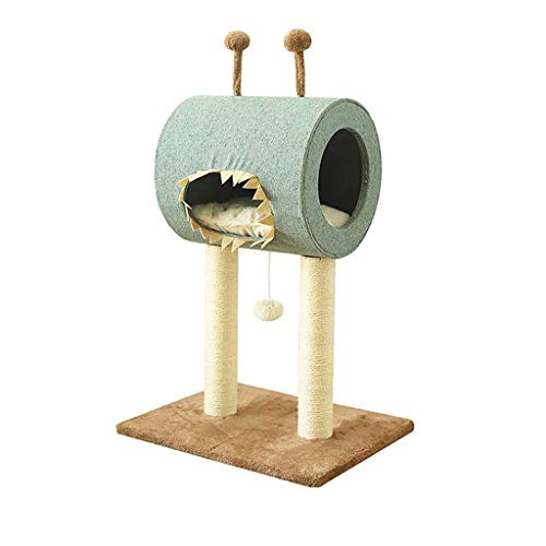 PIKVV Katzennest Kratzbaum Haustier Katze Klettergerüst Katzenspielzeug Niedliche Monster Mundform Katze Unterhaltung Aktivität Grab Bord Spielzeug 49 * 40 * 71 cm Dekoration