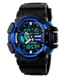#7: SKMEI Analog-Digital Black Dial Men's Watch - AD1117 (BLK- BLU)