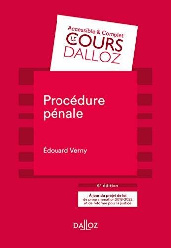 Procédure pénale (Cours) par Edouard Verny