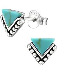 d05ec316c75c EYS Jewelry – Pendientes de mujer triangulares de plata de ley 925  oxidados