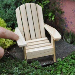 Mini-sand-stuhl (Darice 3 Adirondack Stühle, natürliche Tortenauflage, Strandmotiv, Hochzeit)