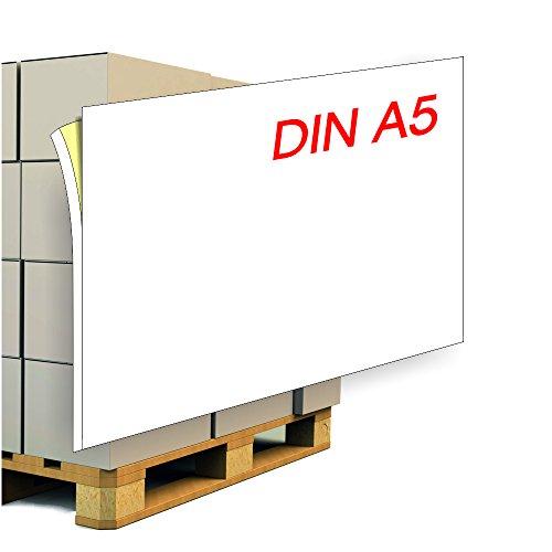Paketaufkleber / Palettenaufkleber DIN A5 inkl. 5 mm Anfaß-/Abziehlasche - 1.000 Etiketten. Adressetikett / Versandaufkleber