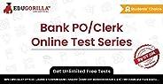 Bank PO/Clerk Mock Test 2020 | Unlimited Online Test Series & Speed Tests | 1 Month Subscription | EduGor