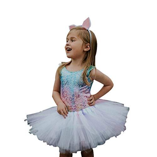 Solide Geraffte Kleid (DIASTR Sommer Kleinkind Baby Mädchen ärmellose Tüll Geraffte Kleid Prinzessin Kleider Fliegenhülse Solide Liebe Spitze Rückenfreies Kleid A-Linie Rock Partykleid)