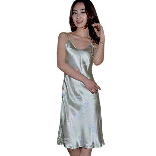 CHUNHUA Mme simple, v-cou haut de gamme 100% pyjama de soie survêtement (couleur en option) , e , xl f