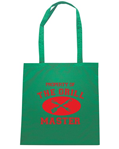 T-Shirtshock - Borsa Shopping OLDENG00853 property of grill master Verde