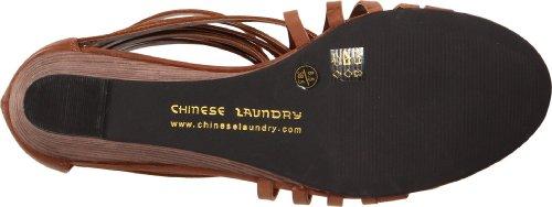 Chinese Laundry Day Time Femmes Synthétique Sandales Compensés Cognac
