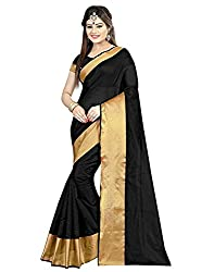 BuyOnn Women's Clothing Saree Today best offers buy online in Low Price Sale Designer Multi Color Cotton Silk Fabric Free Size Women Saree With Blouse Piece)