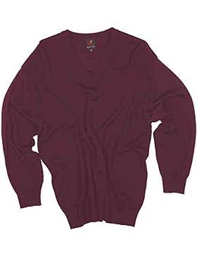 Maglia pullover taglie forti uomo Maxfort 3311 misto lana collo a V