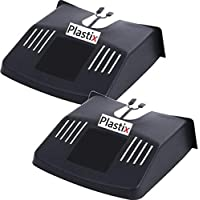 2 x Outdoor Drain Grid Gutter Cover Black Plastic Prevents Blockages To Drains