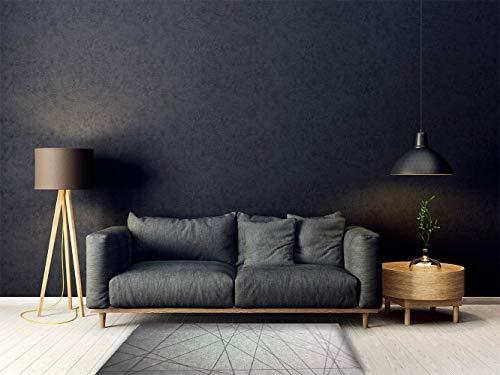 Oedim tappeto stampa linee nere in pvc 95 x 120 cm | tappeto in pvc | pavimento in vinile|decorazione domestica