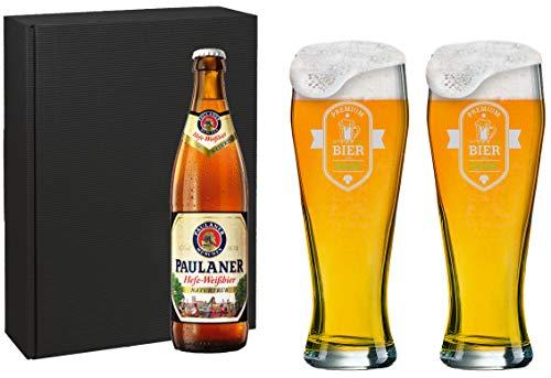 Weizenbierglas Set [Bayern] mit individueller Gravur [Name] und [Motiv 03] - MeinGlas
