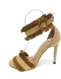 4d2f2b77 YUMUYMEY Sandalias de Las Sandalias de los Zapatos de tacón Alto de Las  Mujeres con Las Sandalias de la Hebilla…