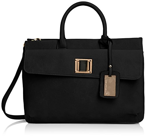 SwankySwans Elle Pu Leather Business,  Nero Nero