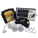 Générateur de Puissance de Stockage de Panneau Solaire de Taille Portable Générateur de système de Puissance de Camping de Plein air pour Les Ampoules LED...