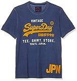 Superdry Shirt Shop Duo Overdyed tee Camiseta de Tirantes, Azul (Blueprint Zm6), X-Large para Hombre