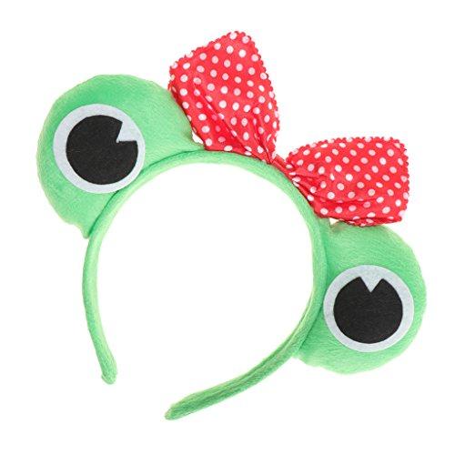 Dolity Froschkostüm Kostüm Frosch Haarreif Haarband Stirnband Haarschmuck für Karneval Fascing Halloween Frosche Cosplay - Frosch Prinzessin, 11 cm