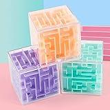 Heaviesk 3D Maze Ball Rotación Cubo Profesional Velocidad Rubik Puzzle Cubo con Pegatinas Niños Brain Teaser Cubo Mágico Juguetes