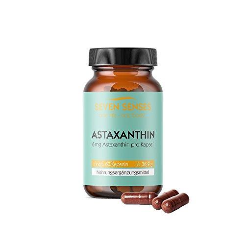 Astaxanthin Kapseln   Antioxidantien aus der Mikroalge Haematococcus pluvialis   6mg Astaxanthin pro Kapsel   60 Tabletten - 36,9 g
