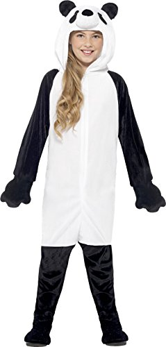 Smiffy's 44564M - Kinder Unisex Panda-Bär Kostüm, Alter: 7-9 Jahre, schwarz/weiß (Panda Kid Kostüme)