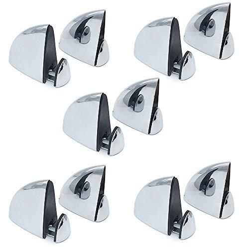 NUZAMAS-Juego de 10 mini abrazaderas de cristal, soporte para estante de madera...