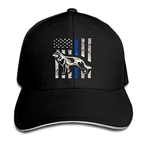 Osmykqe Kappen-Sandwichkappe K-9 Blaue Leben Angelegenheit dünne Linie Hund dauerhafte Baseballmütze-Hüte justierbare emaillierte Fernlastfahrer-Kappe 03VV9020 -