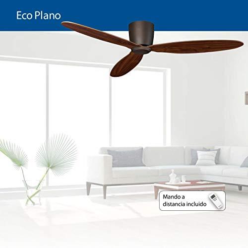 41TyeM6jmbL. SS500  - Ceiling Fan, ECO PLANO BZ-NB wing Nussbaum