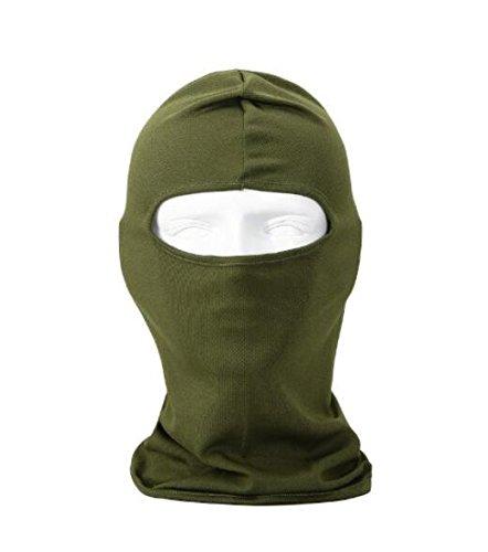 Unicoco grün Ultra dünn Ski Maske unter A Bike/Football Helm -