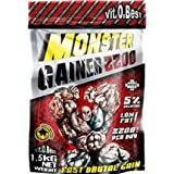 Monster Gainer 2200 de VitOBest es un alimento completo especialmente diseñado para personas que necesitan un aumento de volúmen muscular rápido. Contiene un 5% de monohidrato de creatina para un aumento de fuerza y resistencia. Es extremadam...