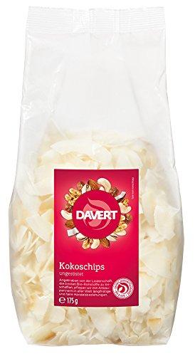 Davert Kokoschips, ungeröstet, 1er Pack (1 x 175 g) - Bio