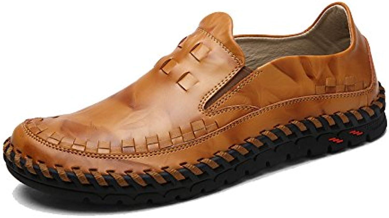 LYZGF Hombres Cuatro Estaciones Transpirable Casual Moda Juventud Comodidad Conducción Zapatos De Cuero -