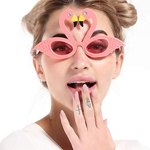 Ogquaton Swan Jolly Men Woman Brille Kinder Erwachsene Urlaub Partyzubehör Brillen, Neuheit Schmuck Langlebig und praktisch