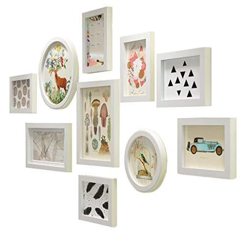 (Nwn 10pcs große Multi Foto Wall Frame, hölzerne Bilderrahmen Collage, Set von 10 modischen Wall Decor 132 * 72cm)