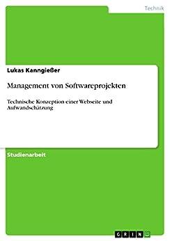 Management von Softwareprojekten: Technische Konzeption einer Webseite und Aufwandschätzung