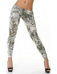 24brands CHICK REBELLE Damen Leggings Marmor Muster Batik 2-er Pack - 3171