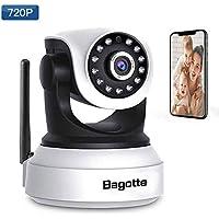 Bagotte Cámara IP WiFi, Camaras de vigilancia Interior, HD 720P Cámara de Seguridad P2P IR Visión Nocturna/Detección de Movimiento con Micrófono y Altavoz para Seguridad Doméstica/Bebé/Mascotas.