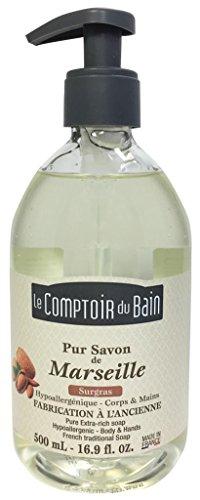 Le Comptoir du Bain Savon de Marseille Liquide Neutre 500 ml - Lot de 3