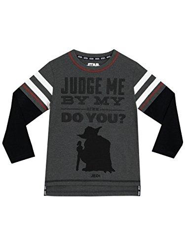 Star Wars Jungen Yoda Langarmshirt 158