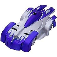 SGILE 4CH Coche Trepador de Control Remoto RC Escalar la Pared Cohete coche de juguete de carrera Azul