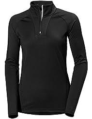 Helly Hansen W Phantom 1/2 Zip Midlayer - Jersey para mujer, color negro, talla XL