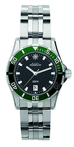 Michel Herbelin Damen-Armbanduhr Newport Trophy Analog Quarz Edelstahl 14290/VE14B